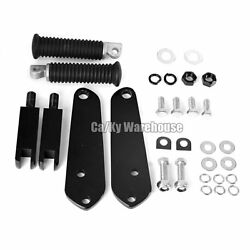 Ca Black Highway Footpegs With Mount Kit 92-16 Harley Dyna Fxdb Fxdl Fxdc Fxd