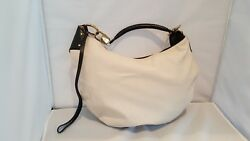 GUCC I-  LARGE CANVAS & LEATHER STRAP HOBO BAG- PRE-OWNED- GREAT CONDITION