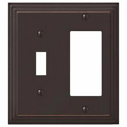Hampton Bay Steps 1 Toggle 1 Decora Aged Bronze Finished Switch Wall Plate Cover