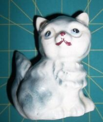 Vntage Blue Ceramic Cat Japan