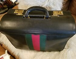 GUCCI vintage 1960's VERY RARE Leather Travel Trunk Case Suitcase Bag. Must see.