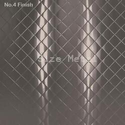 8 Pack - 430 Brushed Quilted Pattern Stainless Steel Sheets 24ga 4and039 X 10and039