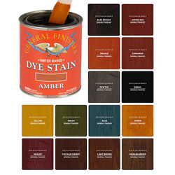 General Finishes Water-based Dye Stains 14 Colors Available Pint Or Quart