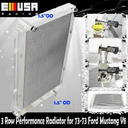 3 Row Performance Radiator For Ford 71-73 Mustang 69-71 Country Squirev8 Mt Only