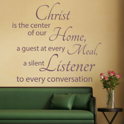 Christ Is The Centre Bible Verse Wall Decal Sticker Ws-42966