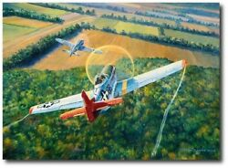 The Color Of Courage By Rick Herter - P-51c Mustang German Focke-wulf 190