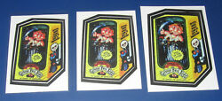 2005 Topps Gpk Garbage Pail Kids Lost Wacky Packages Fonzie 3 Size Test Set