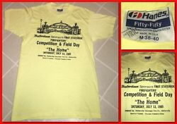 Hanes 5050 BUDWEISER LABEL TShirt SOFT MEDIUM USA Firefighters Competition NY!!