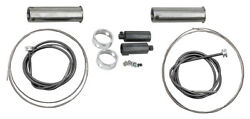 Glide Throttle-spark Spiral Kits W/ Cables 1949 - 1953 Harley Panhead Handlebars