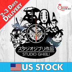 Studio Ghibli Anime Spirited Away Vinyl Record Wall Clock Best Gifts Room Decor