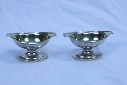 Sterling Silver Georgian William And Patrick Cunningham Sauce Boats London 1798