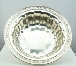 Wallace Sterling Silver Reticulated Edge Fluted Centerpiece Bowl 10 C1570