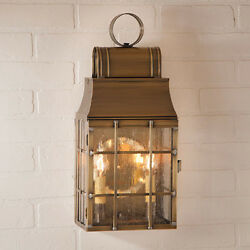 Irvinand039s Tinware Washington Wall Lantern - Primitive Country Outdoor Light - New