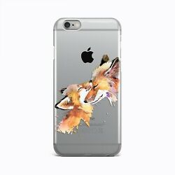 Cute Fox Rubber Gel Case For iPhone 4s 5s 6s 7 8 Plus Animal iPhone X XR XS Max