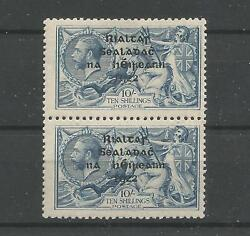 Ireland $$$$$ 1922 Thom Seahorse 10s Variety Retouch to 10 & R over Se 38 SG46