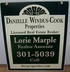 Rochester Ny Real Estate Broker 2 Sided Metal Sign