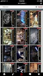 Star Wars Card Trader Widevision Series 1 Complete Set And Awards+bandw Hyperspace