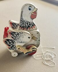 Vintage Toy The Cackling Hen 120 Fisher Price Toys Made In Canada