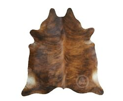 New Brazilian Cowhide Rug Leather BRINDLE 5x6#x27; Cow Hide Cow Leather