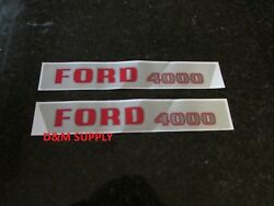 Tractor Hood Decal Set To Fit Ford 4000