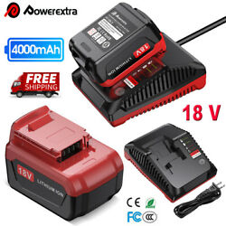 18v Battery / Charger For Porter Cable Pcxmvc Lithium And Nicd Nimh Pc18b Pc18blx