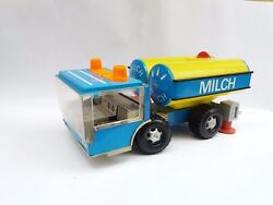 Vintage Old Plastic/tin Gdr Milk Cyster Truck Toy