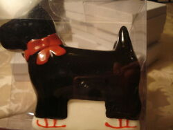 Ice Skating Scottish Terrier Scotty Dog  Salt & Pepper Shaker Set BRAND NEW