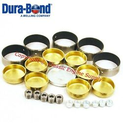New Coated Cam Bearings And Brass Freeze Plug Set Sb Chevy 350 327 307 305 302 283