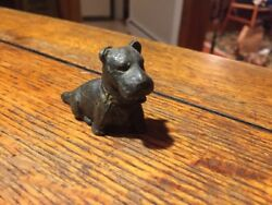 SCOTTIE Dog Scottish Terrier Puppy  Figurine Cast Iron Antique