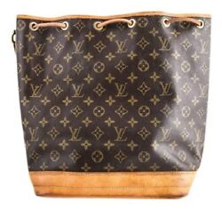 Louis Vuitton Vintage Bucket Shoulder Bag Brown Leather Authenticity Guaranteed