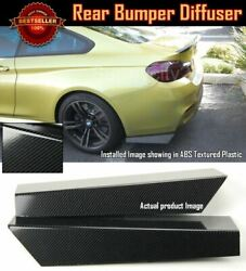 Pair 18 Rear Bumper Carbon Effect Apron Fin Splitter Diffuser Valence For Chevy