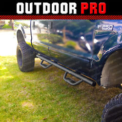 Fit 99-14 Ford F-250 Sd Crew Cab H Style Running Boards Nerf Bars Side Steps