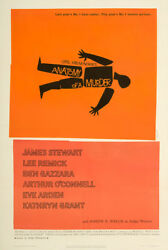 Anatomy of a Murder 1959 27x41 Orig Movie Poster FFF-01961 Near Mint