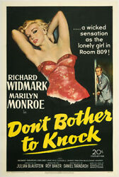 Don't Bother to Knock 1952 27x41 Orig Movie Poster FFF-00661 Marilyn Monroe