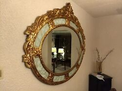 Gold Antique Wall Mirror