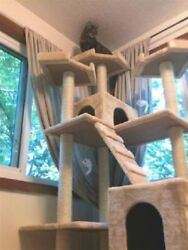 Cat Condo For Indoor Cat Big Tower Multi Giant Castle And Large Extra Tree Tall