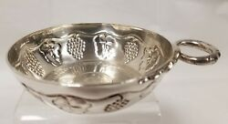 Antique English London Heavy Sterling Silver Wine Taster Inlaid 1834 Coin By Dandj