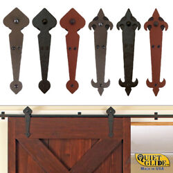 Quiet Glide Locally Made, Hand-forged, Hammered Rolling Barn Door Hardware Kits