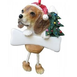E&S Pets Dangling Legs Christmas Ornament NEW Dog Pup BEAGLE Puppy Holiday