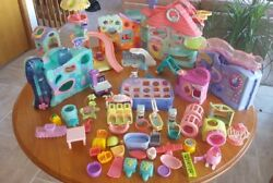 Littlest Pet Shop Huge Lot- Pets-6 X Large & L Play sets Rare dogs cats