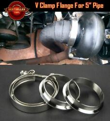 T304 Stainless Steel V Band Clamp Flange Assembly For Dodge 5 Od Exhaust Pipe