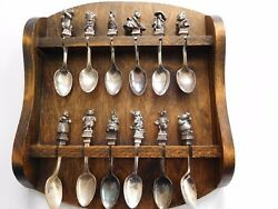 Beatrix Potter Silver Plated Sculpted 12 pc. Spoon Collection