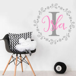 Custom Name Nursery Wall Sticker Decal Childrens Bedroom Baby - Colour Options