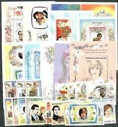 Princess Diana Topical Stamp Collection 10 Diff Souv Sheets + 6 Complete Sets