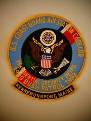 Vintage United States Coast Guard Presidential Security Detail Jacket Size Patch