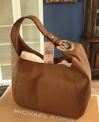 $368 New Michael Kors Fulton MK Handbag Purse Designer Bag