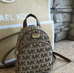New $248 Michael Kors ABBEY Backpack MK Bag Designer Handbag