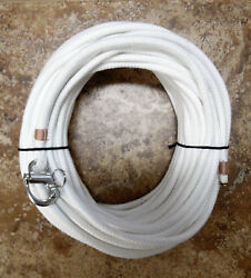 5/16 X 90 Ft. Natural/white Spun Dac/polyester W/fixed Bail S/s Snap Shackle
