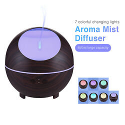 850ml LED Light Aroma Diffuser Aromatherapy Ultrasonic Essential Oil Humidifier