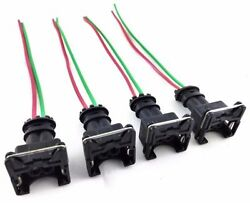 4 Rc Fuel Injector Connector Wiring Harness Plug Clips Bosch Ev1 Pigtail Obd1 Gm